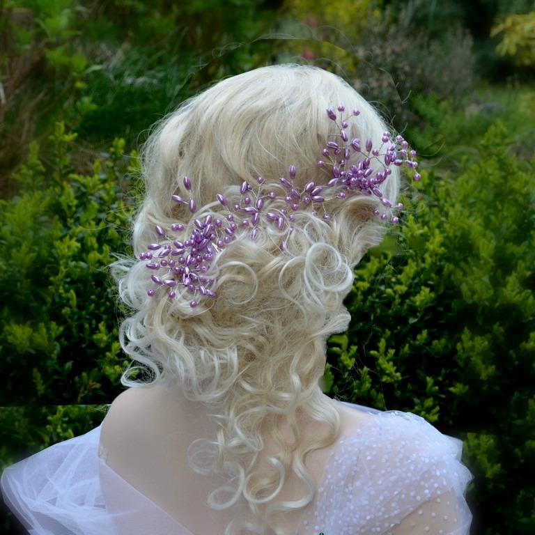 d4a66b2577d Svatební ozdoba do vlasů Claudia lila   Zboží prodejce kultdesign ...