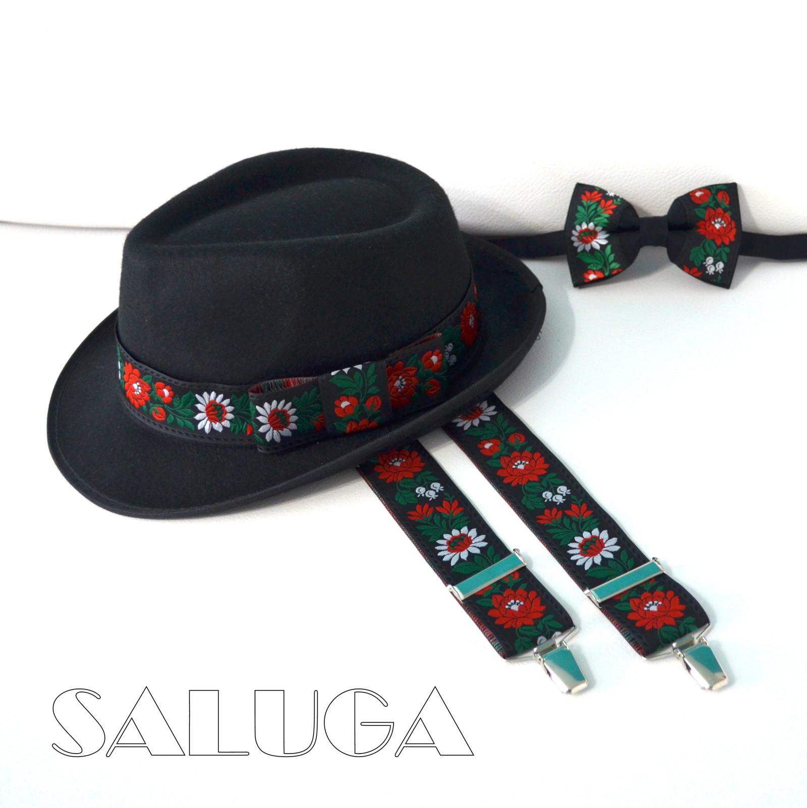 44470f97b81 Folkový folklorní set motýlek + šle + klobouk   Zboží prodejce ...