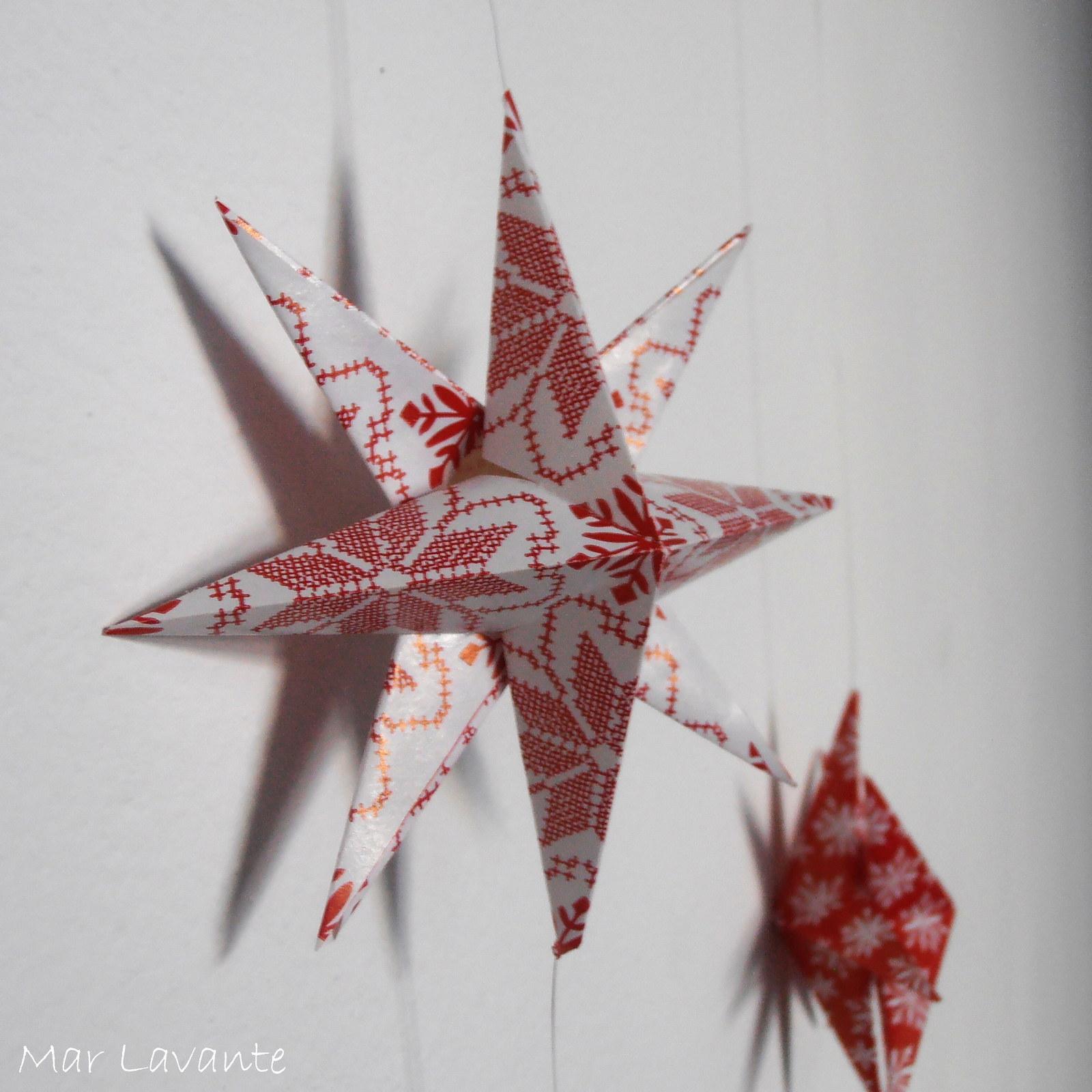 Origami závěs hvězdy - vánoční vzory / Zboží prodejce Mar ... - photo#3
