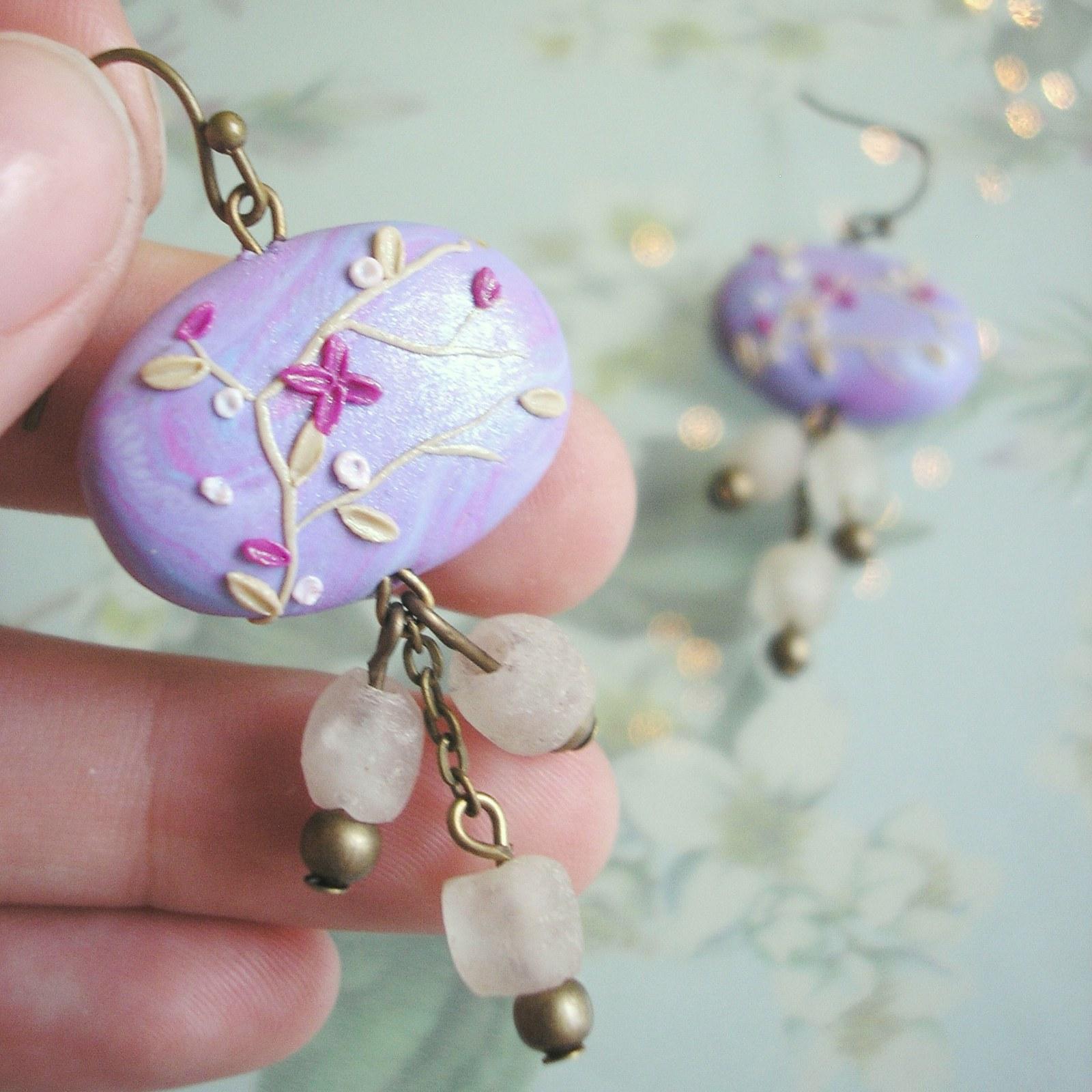 Náušnice Japan Button - Azalea   Zboží prodejce Mauréta  e8143f0a262