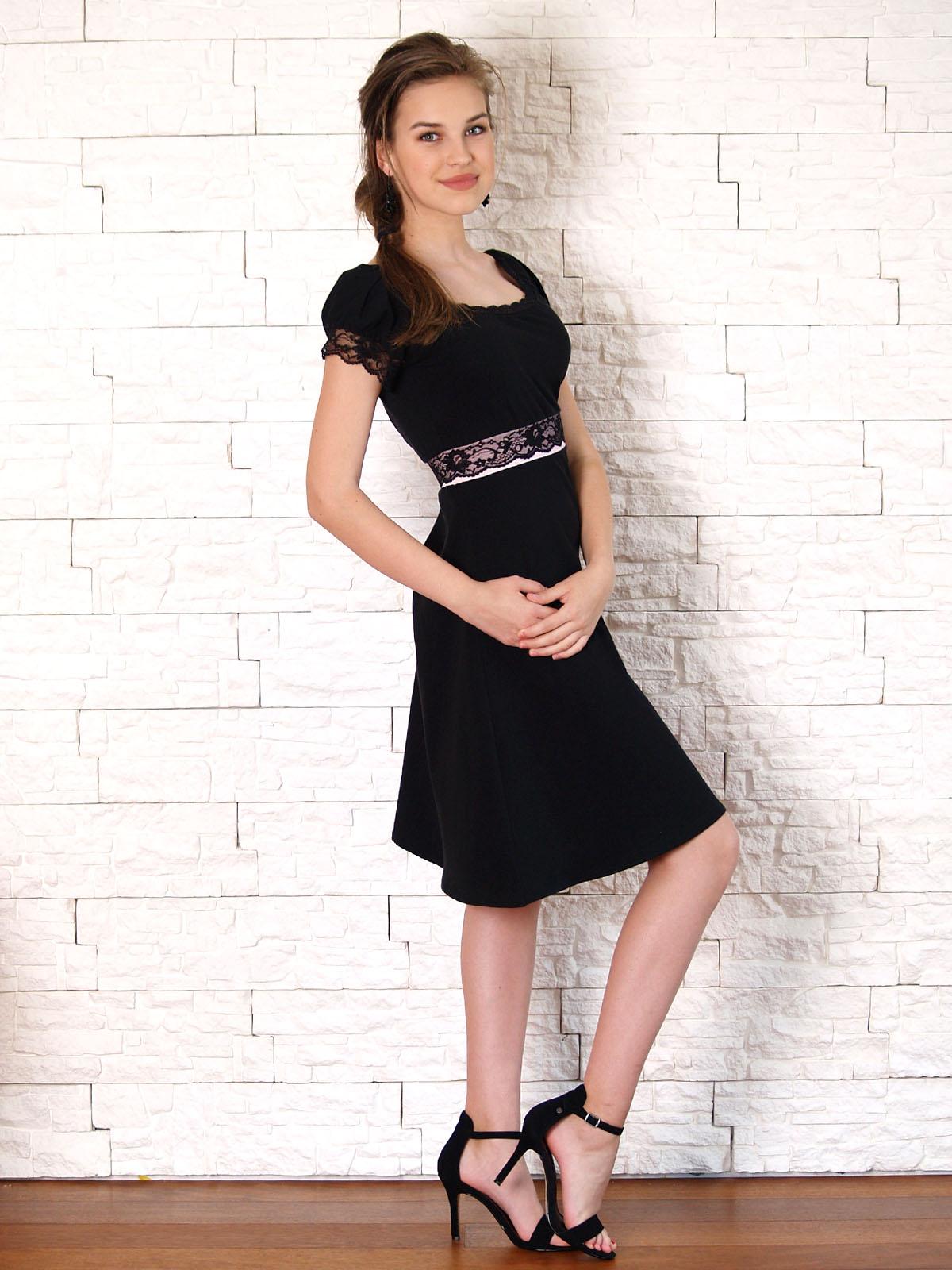 Elegantní šaty s krajkou- růžová s černou   Zboží prodejce Janette M ... 367a2c76ab
