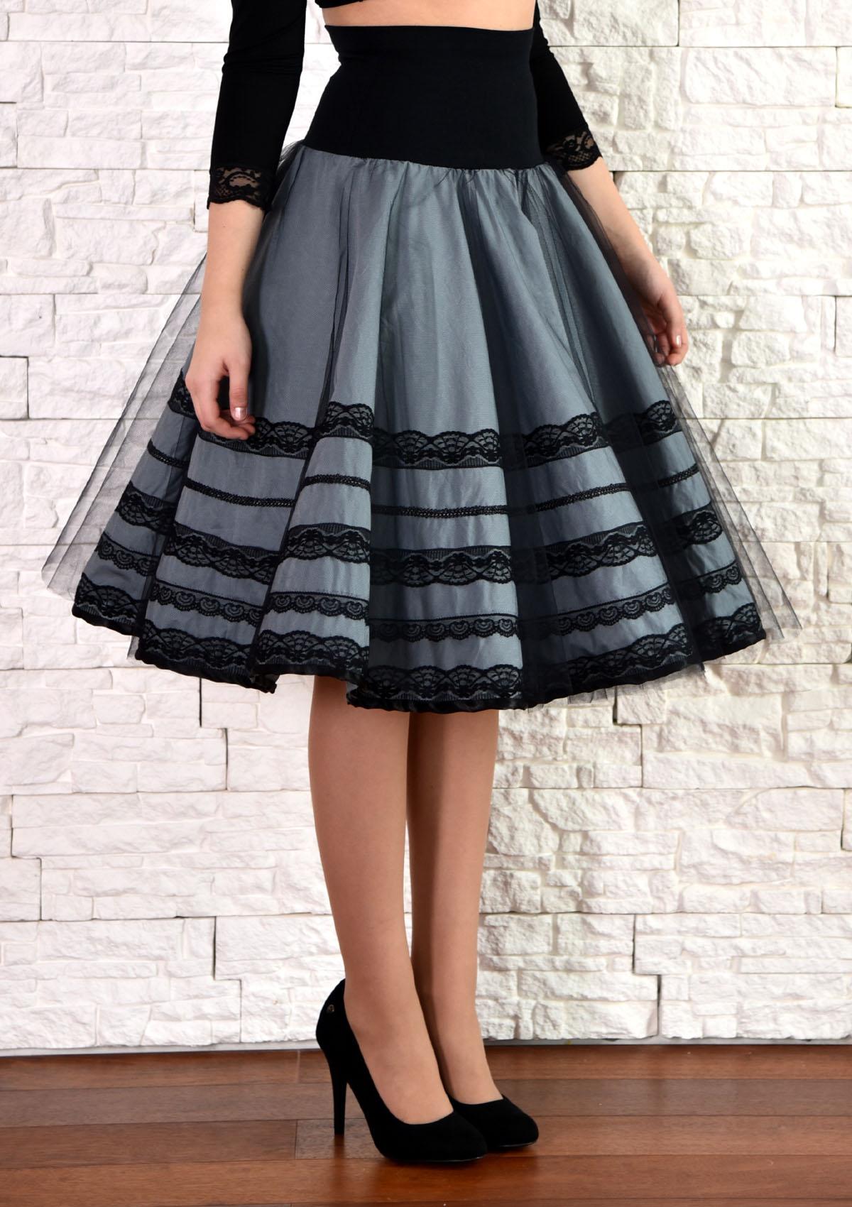 Luxusní společenská sukně s tylovou spodničkou   Zboží prodejce ... 21e3d6622d