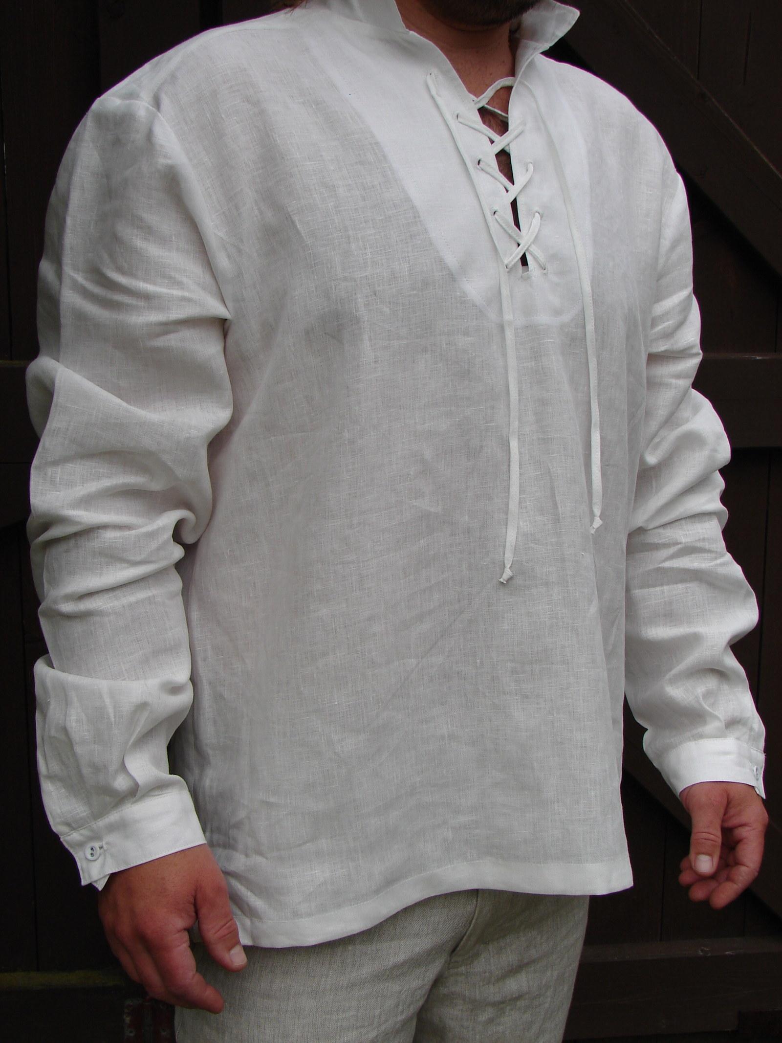 Přírodní lněná chlapecká košile se šněrováním   Zboží prodejce NiPA ... 1dff1c5ee0