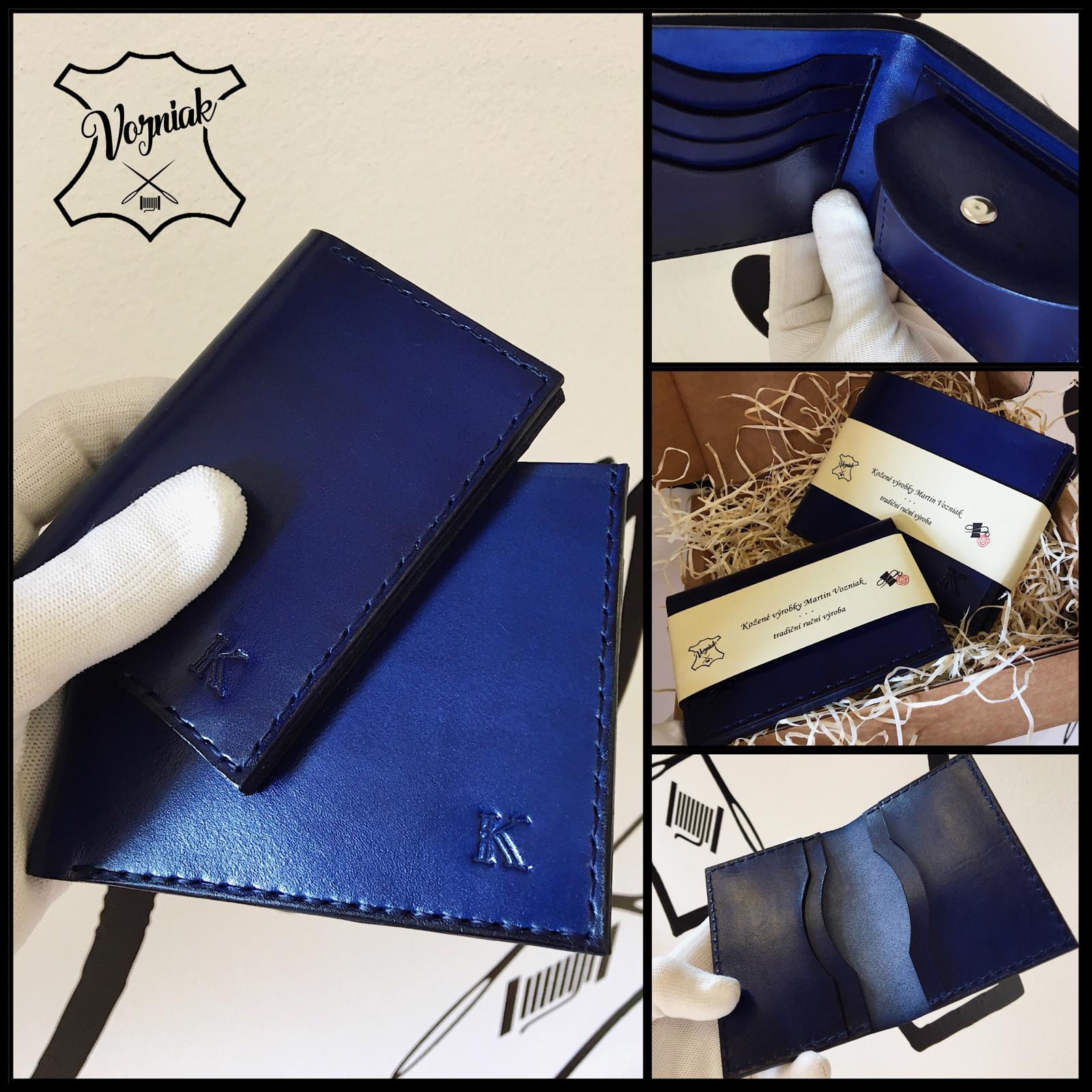 13c70cb4f Kožený set peněženky s dokladovkou na zakázku / Zboží prodejce ...