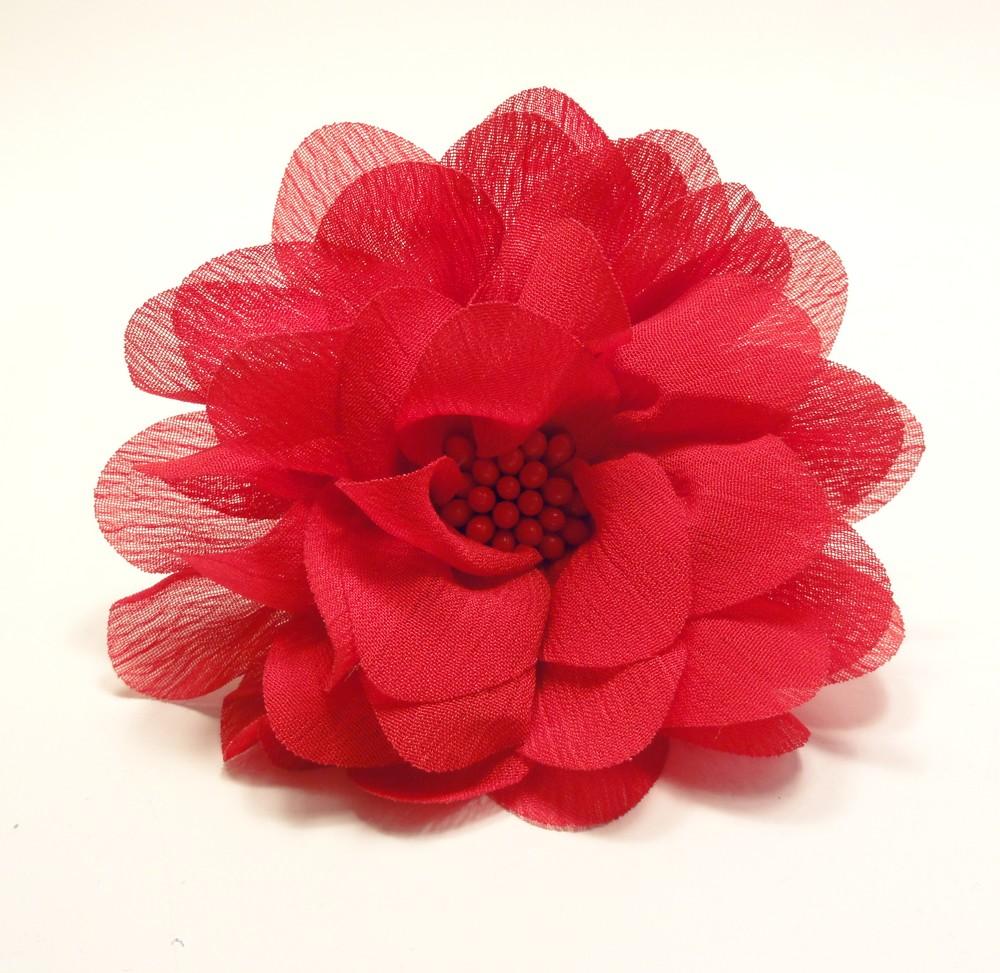 červená květina do vlasů sponka nebo čelenka   Zboží prodejce Aleis ... 48e61765ff