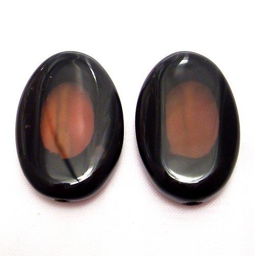 Korálky - přírodní  chalcedon achát (cena za 2 ks)