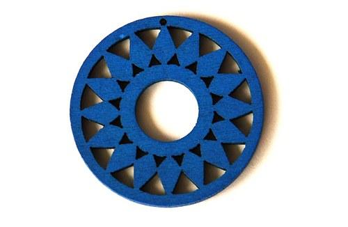dřevěná kolečka- světle modrá