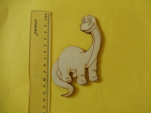 Brontosaurus - dřevěný výřez