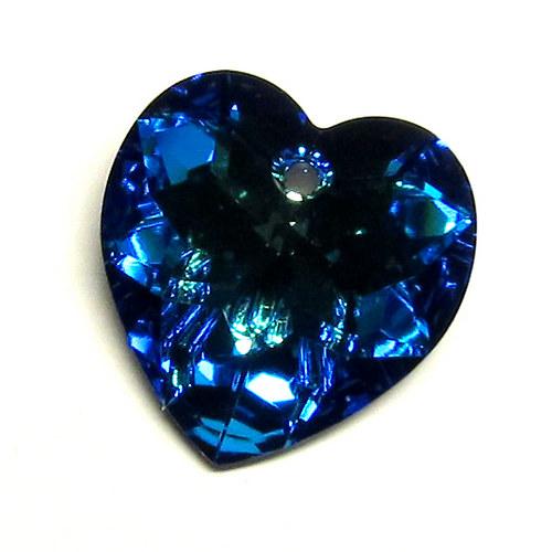 Swarovski srdce - 18 mm - blue
