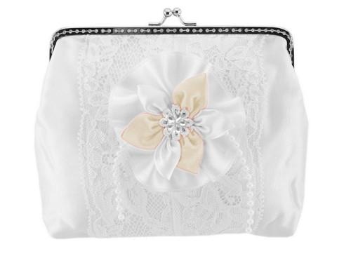 Dámská kabelka bílá, svatební kabelka E7