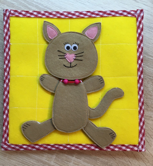 Quiet Book - Kočička - skládání těla