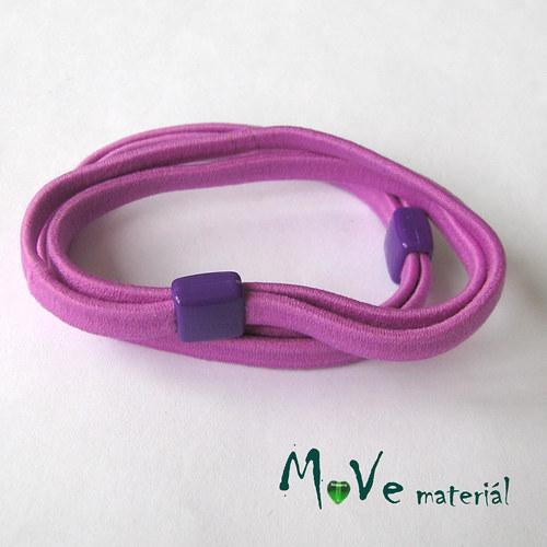 Sada plochých gumiček na úpravu, 2ks, fialová