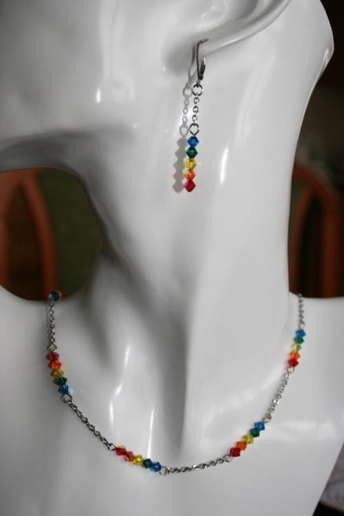 Čakrový náhrdelník 2 - Swarovski - hypoalergenní