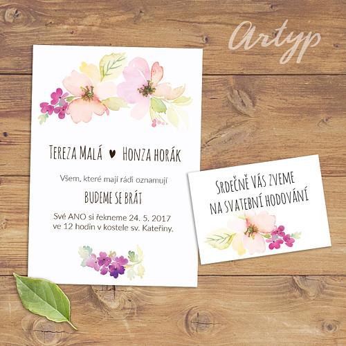 Plané růže svatební oznámení