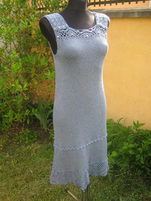letní šaty v jeans modré