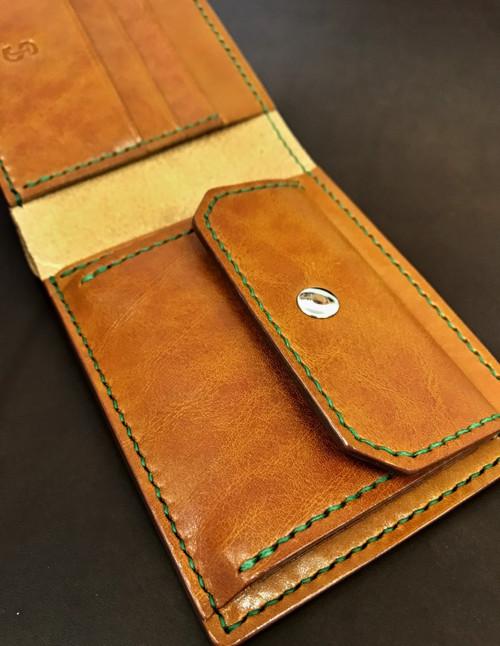 Luxusní ručně šitá kožená peněženka