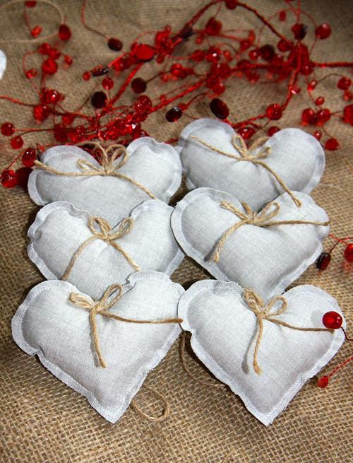 Srdíčko vánoční stříbrné  -- sada