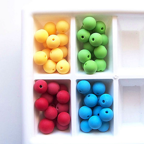 korálky akryl MATT / hrášk.zelená č.10/ 10mm / 8ks