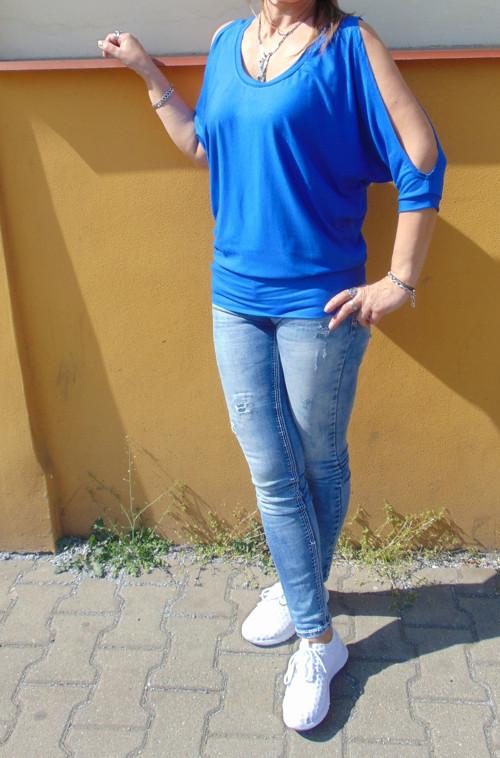 netopýří tričko s holými rameny-výběr barev