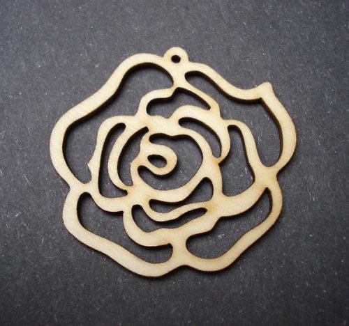Dřevěný výsek - růže