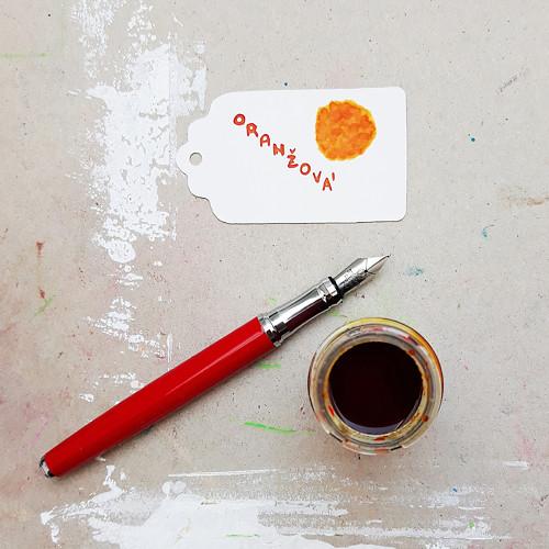 Inkoust - oranžová