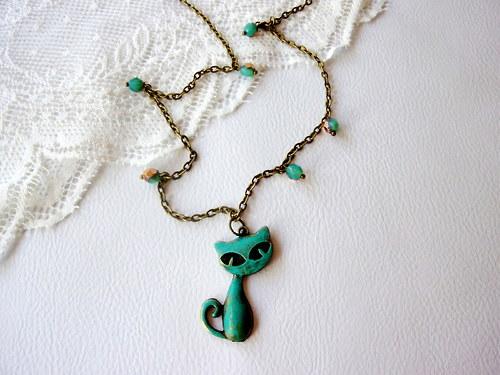 Kočičí  - Zvýhodněná sada!!! Náušnice + náhrdelník