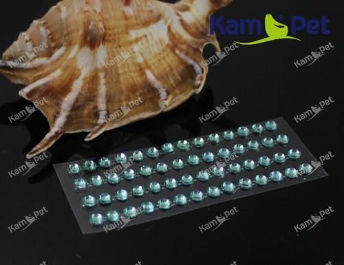 19609-B21 Samolepící kamínky perly SV.TYRKYSOVÉ