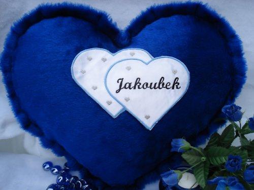 Polštář srdce Jakoubek