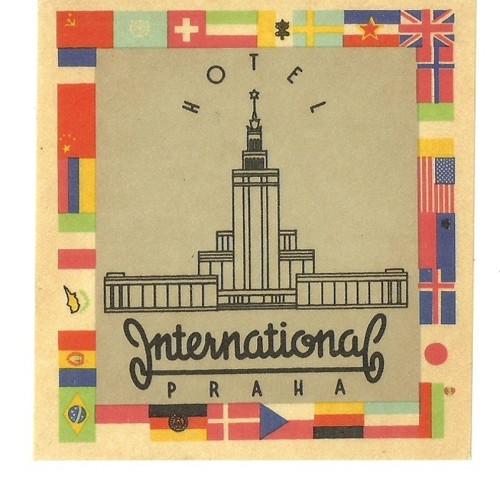 Hotelové nálepky styl Brusel International