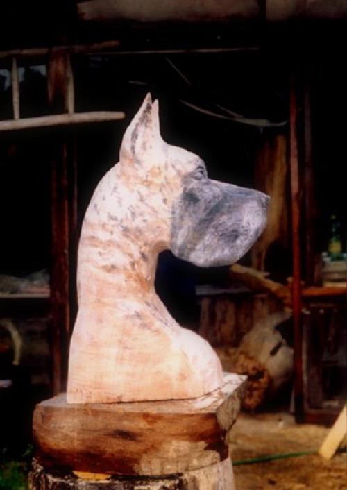 Štěně nebo dospělá doga, busta psí na přání