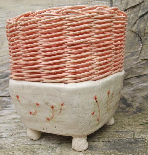Fine rustic decoration  červené kvítky