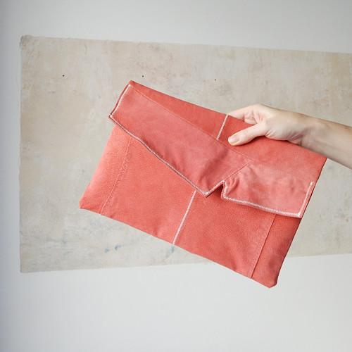 semišové psaníčko do ruky či podpaží - recy kůže