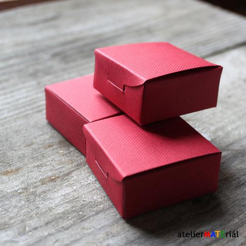 Papírová krabička SIMPLE červená S