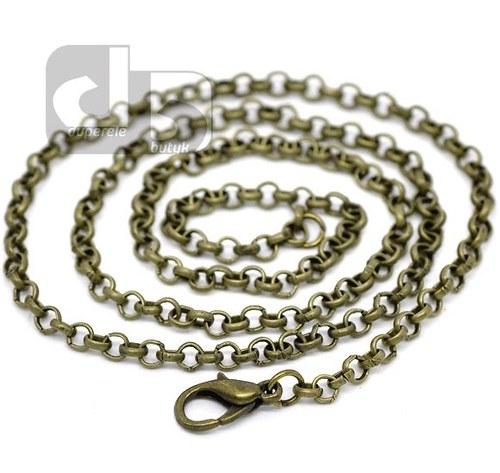 Bronzový řetízek 45 cm