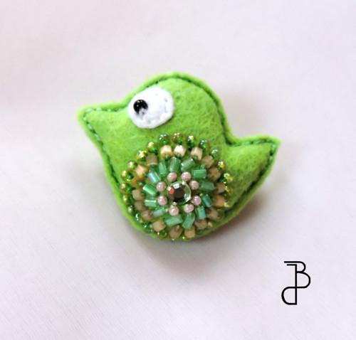 Ptáček růžovo-zelený
