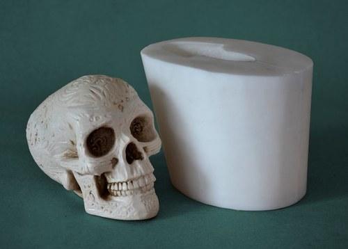 Forma na svíčky Lebka Mayská střední - výška 9,5cm