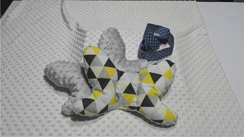 Stabilizační polštářek ve tvaru motýlka