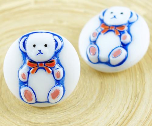 1ks Bílá Modrá Baby Medvídek Zvířat Kolo Ručně vyr