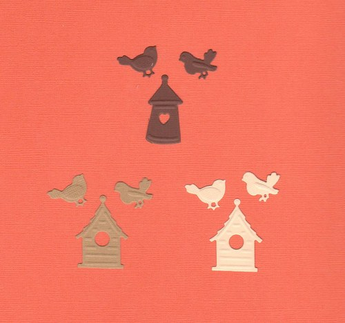 Budky s ptáčky - mix barev (9 ks)