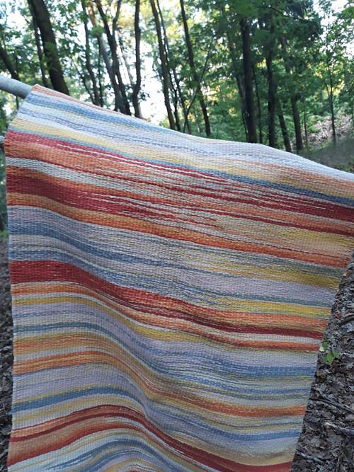 Kobereček tkaný na rámu