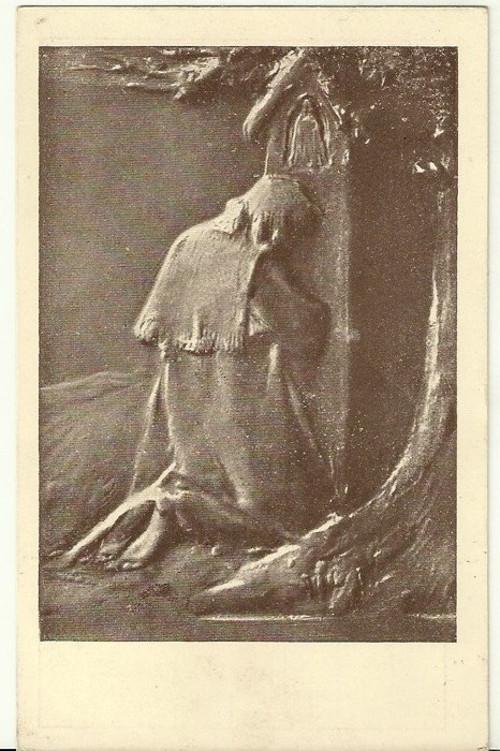Umělecká pohlednice relief St.Sucharda Poutník