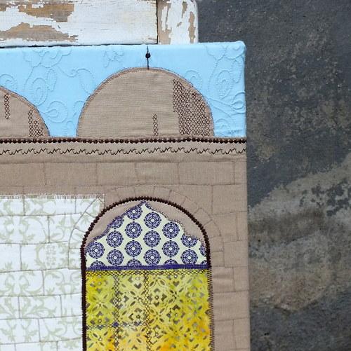 Okno do historie... šitý obraz, 2013
