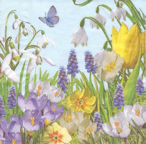 Ubrousek - jarní květiny