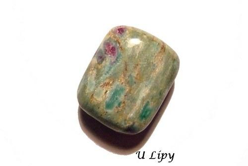 Troml. kámen – rubín ve fuchsitu, č.1