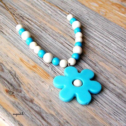 Náhrdelník Modrý květ sleva z 89,-