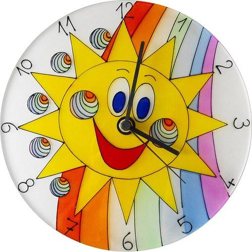Sluníčko *Cestou Duhy - hodiny kulaté 25cm