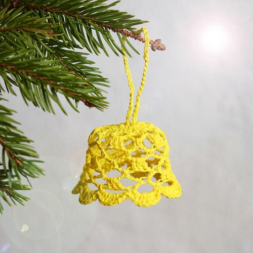 Vánoční zvoneček 1 - žlutý