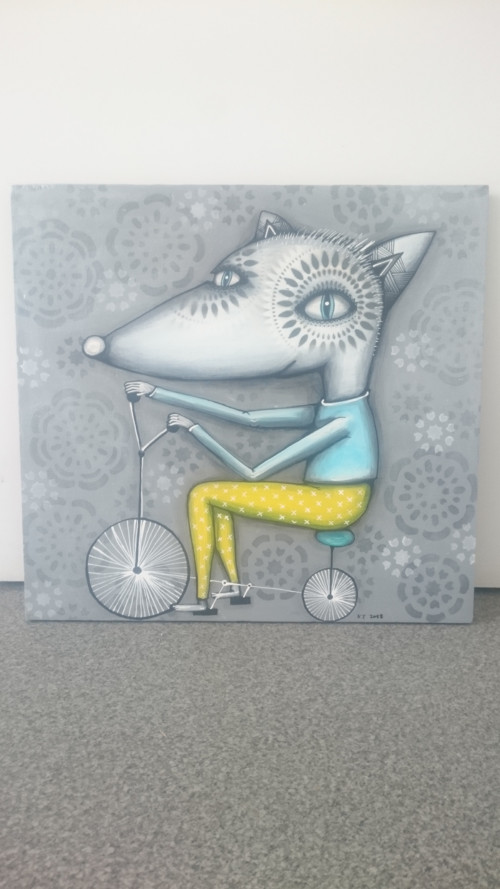 Lišák na kole