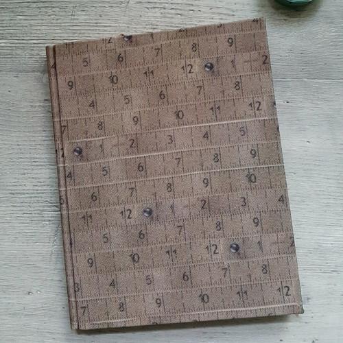 ručně šitý blok - vintage krejčovský metr