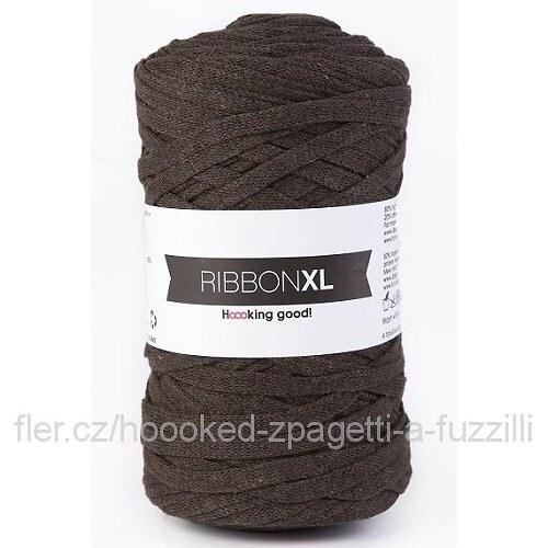 Hoooked RibbonXL - tmavě hnědá (130 m)